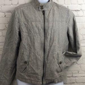 Banana Republic Lined Linen Jacket